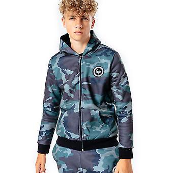 Hype Kids Hoodie Full Zip Sudadera con capucha de manga larga Bolsillos con capucha Jumper Top