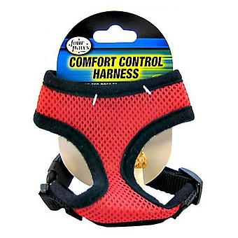 """Four Paws Comfort Control Harness - Red - X-Small - For Dogs 3-4 lbs (11""""-13"""" Chest & 7""""-8"""" Neck)"""