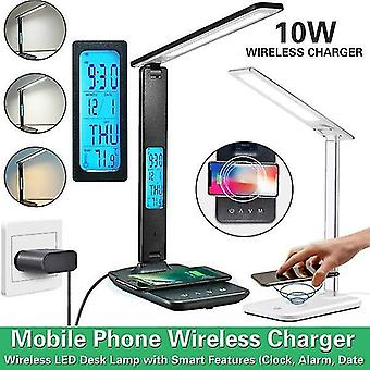 Night lights ambient lighting led desk lamp with wireless charger