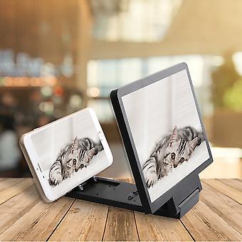 3D携帯電話の画面拡大鏡ビデオアンプスマートフォンスタンド携帯電話映画スマートフォンブラケットホルダー用拡大拡大