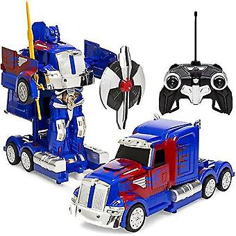 Bästa Rc Transforming Toy Semi Truck Robot 360 Oberoende rotation