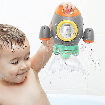 Jouets de bain, Jouets de bain pour tout-petits Fusée spatiale, Bébé Bain Jouet Rotation spray eau pour bébé