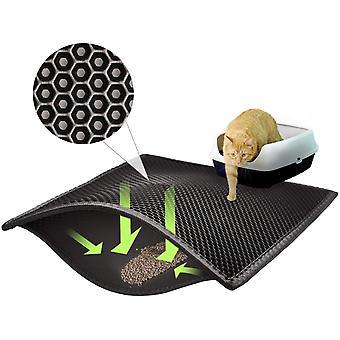 Premium Katzenstreumatte Wasserdicht Doppelschicht Wabendesign Waschbar