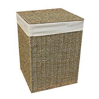 Large Seagrass Square Laundry Basket