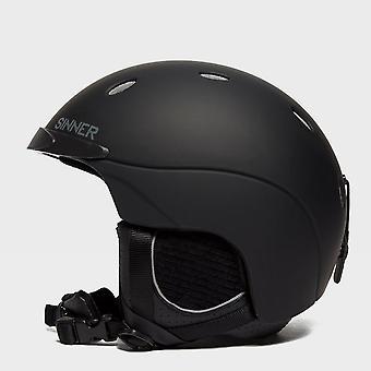 New Sinner Men's Titan Snowsports Ski Helmets Snowsports Black