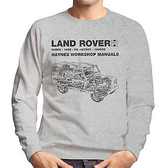 Haynes Workshop Manual Land Rover Black Men's Sweatshirt