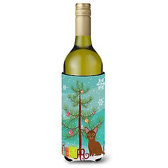 Gatto abissino Merry Christmas Tree bottiglia di vino Beverge isolante Hugger