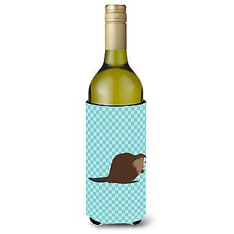 Eurasiska Beaver blå kontrollera vinflaska Beverge isolator Hugger