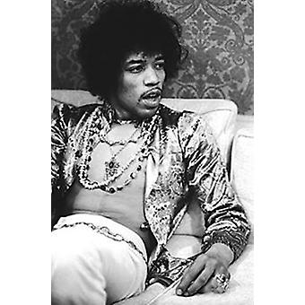 Jimi Hendrix-Hollywood 1967 Poster Poster Print