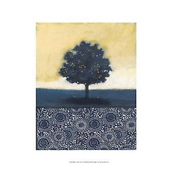 Blue Lemon Tree I Poster Print by Norman Wyatt (13 x 19)