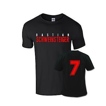 Bastian Schweinsteiger Vorder Namen-T-Shirt (schwarz)