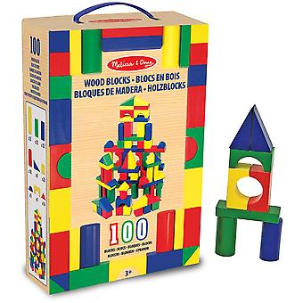 Melissa & Doug 100 Piece Wooden Blocks Set