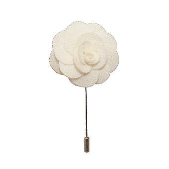 White Handmade kwiat/Rose klapy Pin do noszenia z męskie Bluza treningowa, żakiet, marynarka smokingowa lub marynarka smokingowa