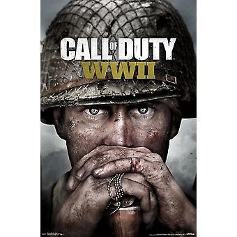 Call of Duty WWII - avain Art Juliste Tulosta