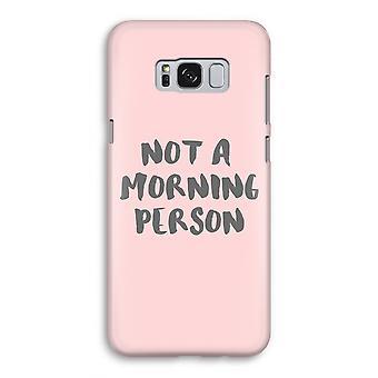Samsung Galaxy S8 volledige Print geval (Glossy) - ochtend persoon
