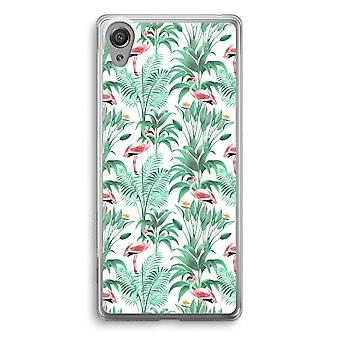 Sony Xperia XA1 przezroczyste etui (Soft) - Flamingo liści