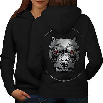 Mal de ojo las mujeres BlackHoodie detrás de Bulldog | Wellcoda
