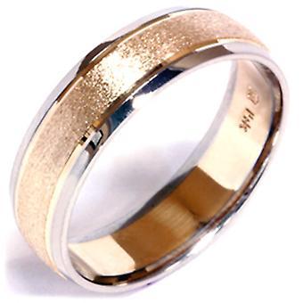 Sten Finish bryllup Band 14K guld