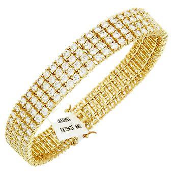 Iskallt ut bling högkvalitativa armband - CZ guld / vit