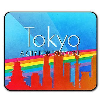 Duma miłość miejskich Tokio myszy antypoślizgowa Mata podkładka 24 cm x 20 cm | Wellcoda