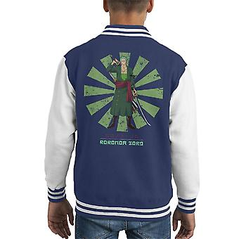 One Piece Roronoa Zoro Retro Japanese Kid's Varsity Jacket