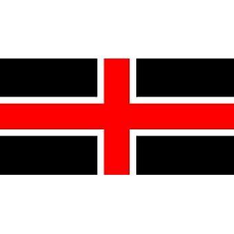 City of Durham vlag 5 ft x 3 ft met oogjes voor verkeerd-om