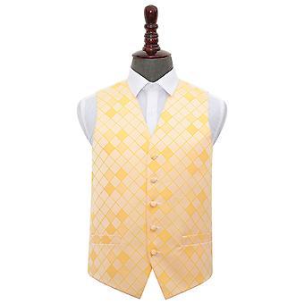 Sunflower Gold Diamond Wedding Waistcoat