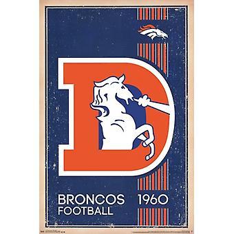دنفر البرونكو-طباعة ملصق 2014 شعار الرجعية