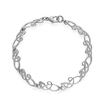 Sterling Silver Traditional Scottish Design Archibald Knox Bracelet
