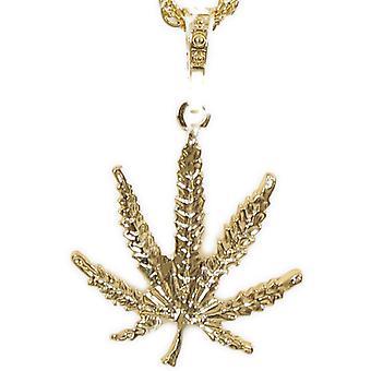 Hippie halskæde guld optik marihuana hash hash blad vedhæng Woodstock