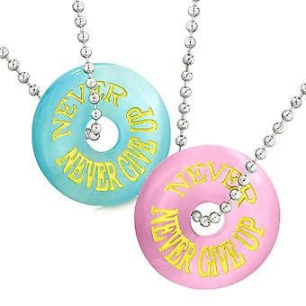 I Love You to the Moon and Back Reversible Arrowhead Yin Yang White Simulated Cats Eye 18 Inch Necklace