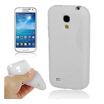 सुरक्षा मामला S-वक्र TPU मामले मोबाइल सैमसंग गैलेक्सी S4 सफेद मिनी i9190 के लिए
