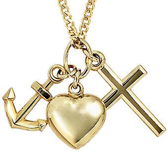 Pendants gold anchor heart cross pendant faith love hope gold yellow gold