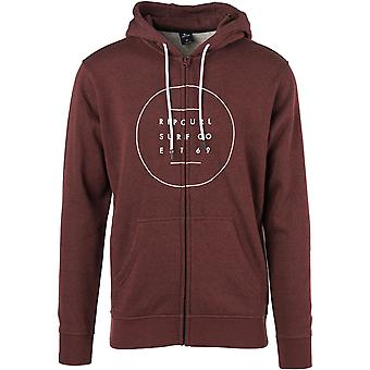 Rip Curl All Around Surf Zipped Hoody in Redle
