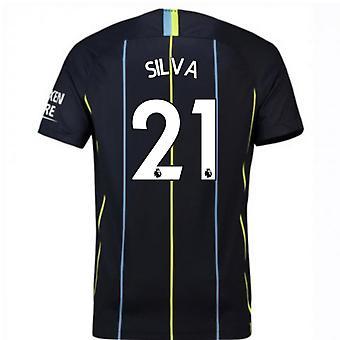 2018-2019 Mann Stadt Away Nike Fußballtrikot (Silva 21)