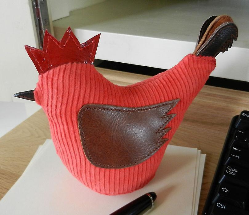 Red Jumbo cordon Coquelet Presse-papiers par Monica Richards