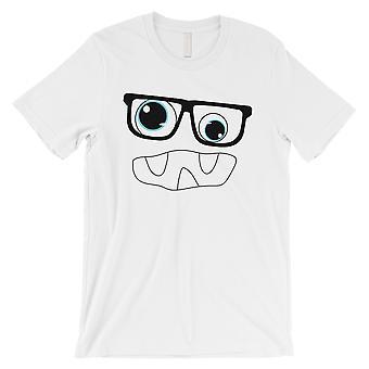 メガネ メンズ ホワイト t シャツとモンスター