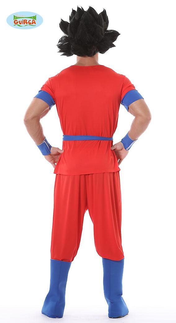 Rotes Manga Kämpfer Kostüm für Herren Karneval Anime Generique
