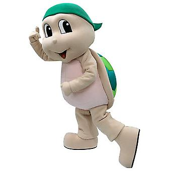 SPOTSOUND of beige and green turtle mascot. Turtle costume