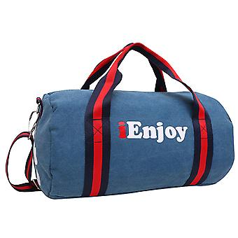 Blue Weekendbag or exercise bag in durable fabric