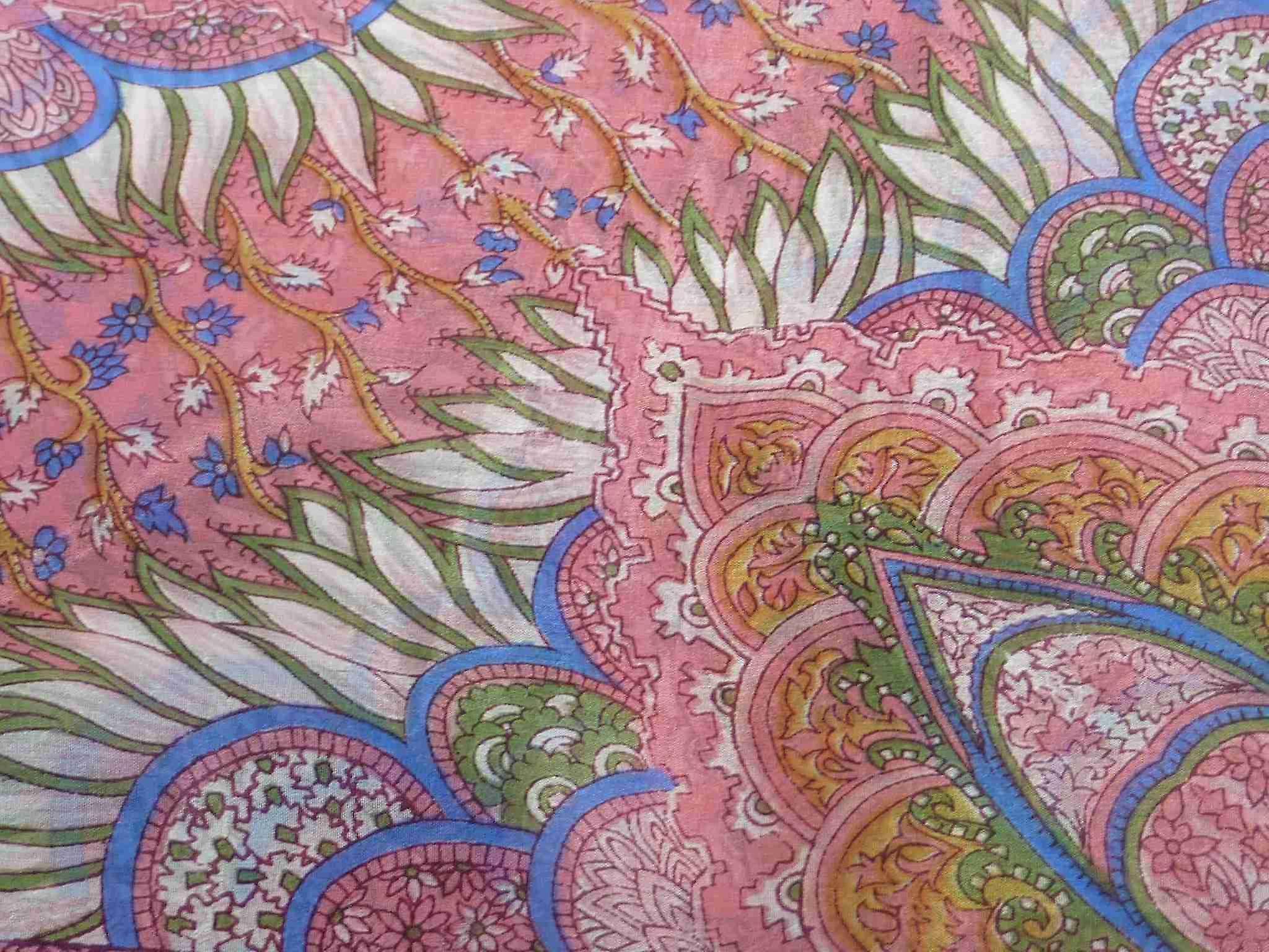 Mulberry Silk Traditional Square Scarf Tara Rose by Pashmina & Silk