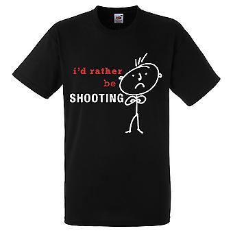 رجالي أود أن بدلاً من أن يكون إطلاق النار التي شيرت أسود