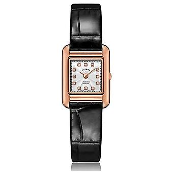 Rotary | Ladies Black Leather Strap | Rose Gold Case | LS05289/70/D Watch