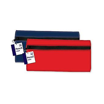 Large Flat Neoprene Pencil Case Various Colours