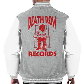 Death Row Records stoel Logo rood mannen Varsity Jacket
