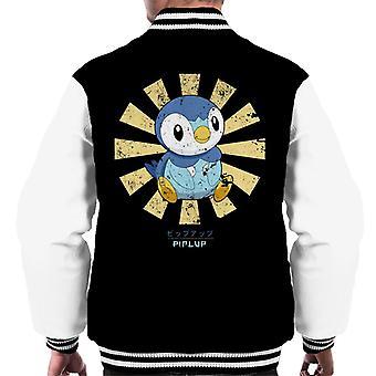 Piplup Retro Japanese Pokemon Men's Varsity Jacket
