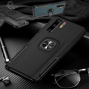 For Samsung Galaxy A40 5.9 inch magnetic metal ring hybrid case Black pouch case cover cases protection