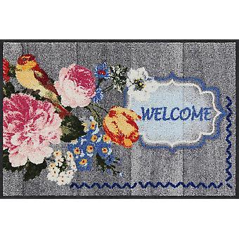 Salon lion doormat Blooming Bird 50 x 75 cm. washable dirt mat