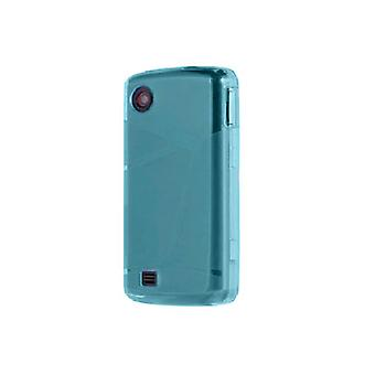 Verizon High Gloss Silicone Case for LG Chocolate Touch VX8575 - Blue