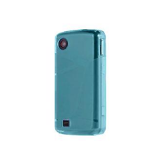 Verizon korkeakiilto silikoni kotelo LG Chocolate Touch VX8575-sininen